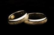 38 Abielusõrmused - kuld, kraabitud pind
