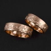 53 Abielusõrmused - sõrmused laine motiiviga