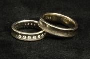 40 Abielusõrmused - valge kuld, briljandid