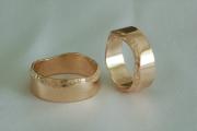27 Abielusõrmused - kuld, murtud ääretega