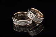 13 Abielusõrmused - kuld, briljant