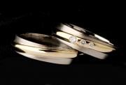 8 Abielusõrmused - valge kuld, kuld, briljandid