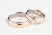 44 Abielusõrmused - kuld, valge kuld, freesitud äärtega