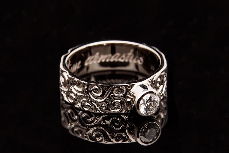 43 Sõrmus - valge kuld, briljant