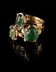 66 Sõrmus - Kuld, smaragdid