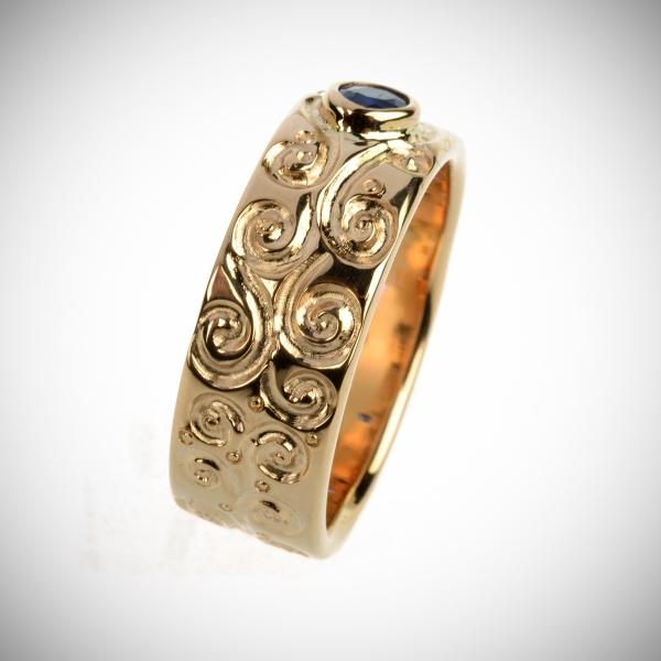 """75 Sõrmus - inspireertitud Gustav Klimti  """"Elupuu"""" motiivist"""