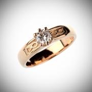 Sõrmus 70 - Kuld, briljant