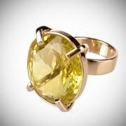 Sõrmus tsitriiniga_64 - Lemon Quartz Ring