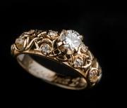Kihlasõrmus 53 - Kuld, briljandid